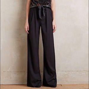 Elevenses size 6 Wide Leg black pant Valera Anthro